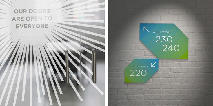 Wayfinding signage concept for the LGBT Center in NYC.
