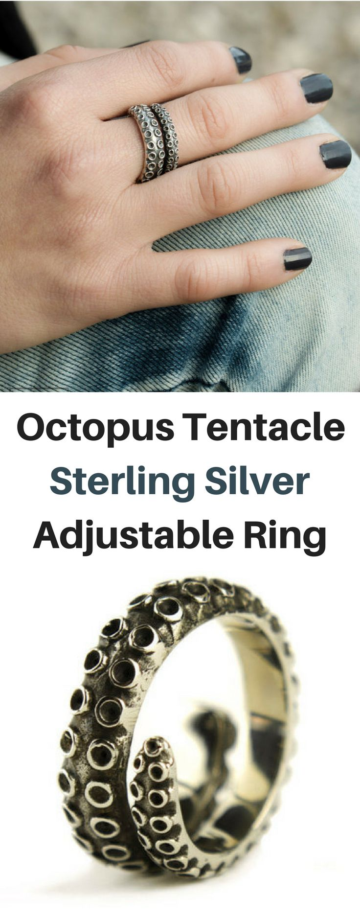 Awesome Octopus Tentacle Ring Sterling Silver Adjustable Ring Wrap Ring Boho Steampunk Jewelry NNT #Afflink #octopus #jewellery #ring #silverring #silverjewelry #steampunk #steampunkjewelry #giftidea #steampunktendencies #gift #bohojewelry silver rings   silver rings simple   silver rings boho   silver rings jewelry   octopus tentacle ring   Octopus Ring jewelry   Steampunk Jewelry   steampunk rings   Boho Rings  