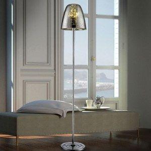 Lámpara de Pie con Pantalla de cristal soplado