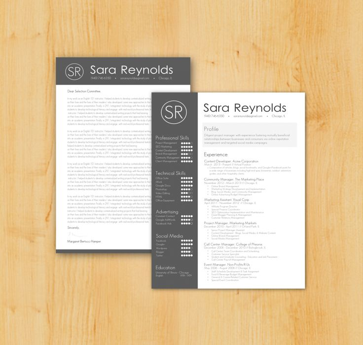 Creative Resume Template for Word Pages and