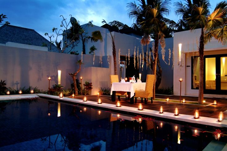 Romantic Dinner at The Seminyak Suite Private Villa. #bali #seminyak #luxuryvillas http://www.the-seminyaksuite.com/