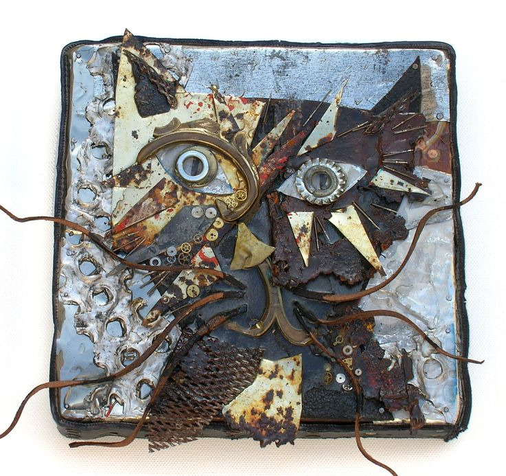 """""""Mad Max""""  Art assemblage, recuperated metal and found objects"""