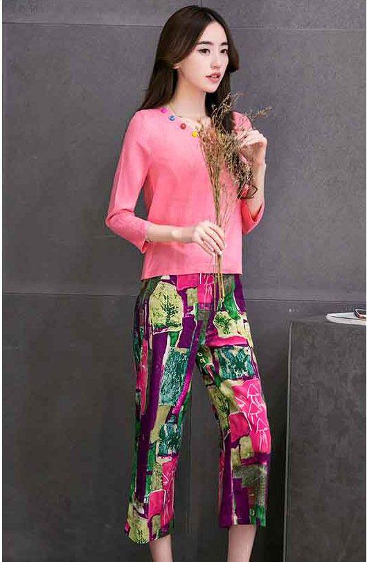 Baju Setelan Celana Panjang Wanita Korea Modis dan Casual B2876