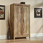 Adept Storage Wide Storage Cabinet, Craftsman Oak