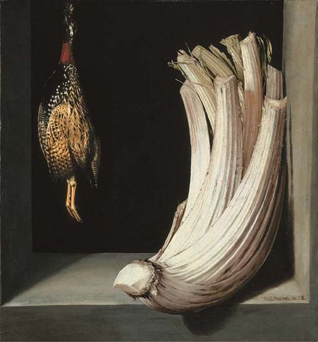 Juan Sanchez Cotan,'Bodegón with a cardoon and francolin'
