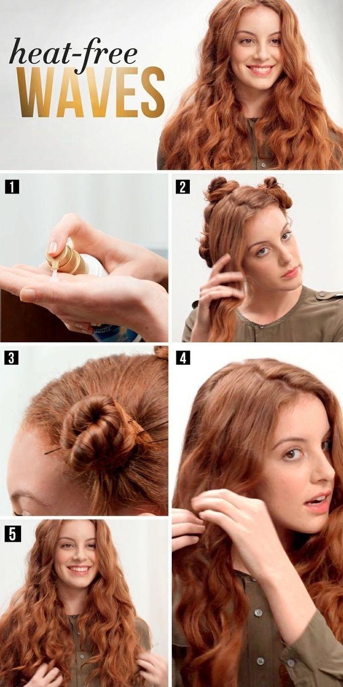 wie man ihr Haar ohne Hitze lockt um eine einfache und