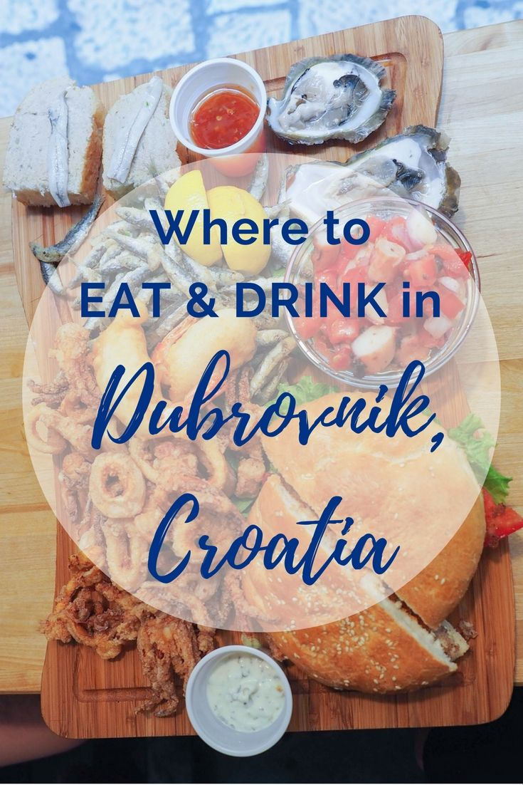 The best places to eat and drink in Dubrovnik, Croatia.
