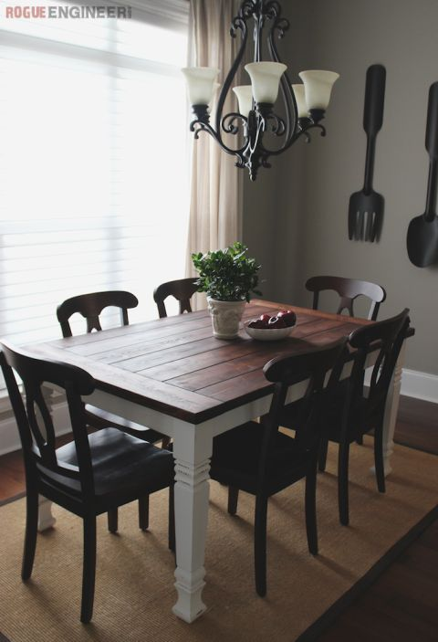 DIY Farmhouse Dining Table Plans More