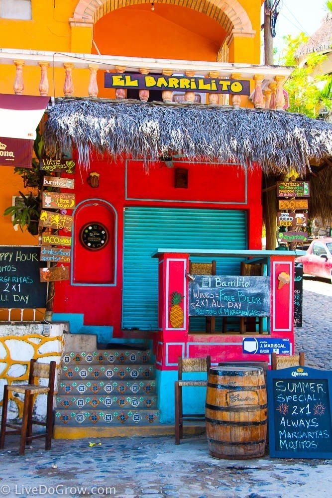 Take a day trip to Sayulita, Mexico as a day trip from Puerto Vallarta or Nuevo Vallarta.