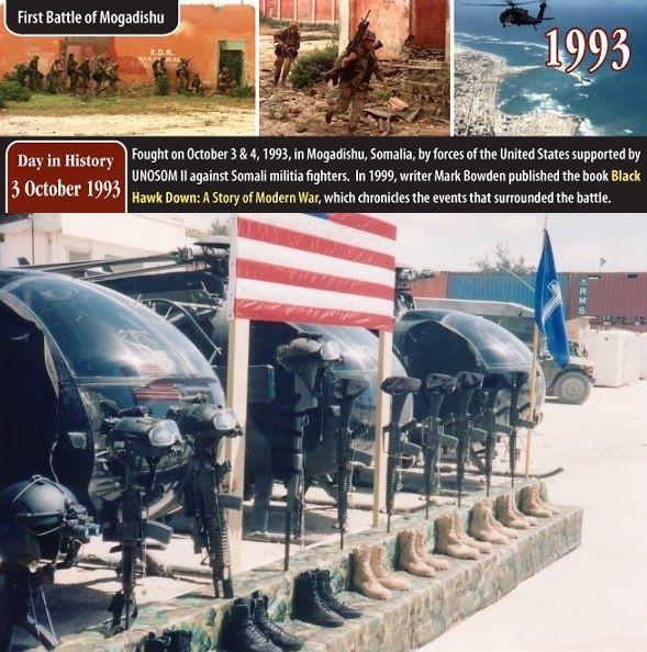 La Batalla de Mogadiscio Un grupo de soldados de élite Operaciones Especiales (Rangers y Delta Force) del ejército estadounidense tenía como misión viajar desde su base hasta el interior de la ciudad para capturar líderes de la milicia de Aidid.
