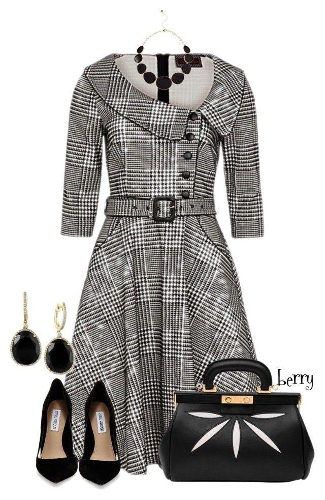 25 Best Ideas About Houndstooth Dress On Pinterest