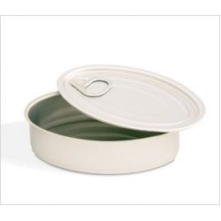 Aluminium Catering Oval Tins  Price per single unit - $1.66 NZD   Empty cans with a separate cover. Perfect for presenting fresh food portions as if they were tinned food.  Give your guests the impression they are getting something off the supermarket shelf when in reality you are presenting them your latest culinary creation.  They are manufactured with high-quality aluminium and the covers are vinegar and acid-resistant.  Note: These tins do not seal and lids are for aesthetic purposes…