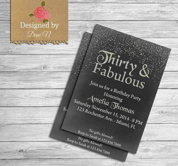 30th Birthday INVITATION Gold glitter Any Age 50th Birthday invitation 40 Birthday invitation 21st Birthday Invitation Adult party by DesignedbyDaniN from Designed by Danin. Find it now at http://ift.tt/2dIbesR!
