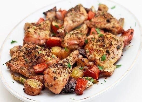 Шустрый повар.: Запеченная курица с овощами