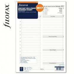 Filofax Tervező, Napi 1 nap/1 oldal Business A4 Fehér 2017