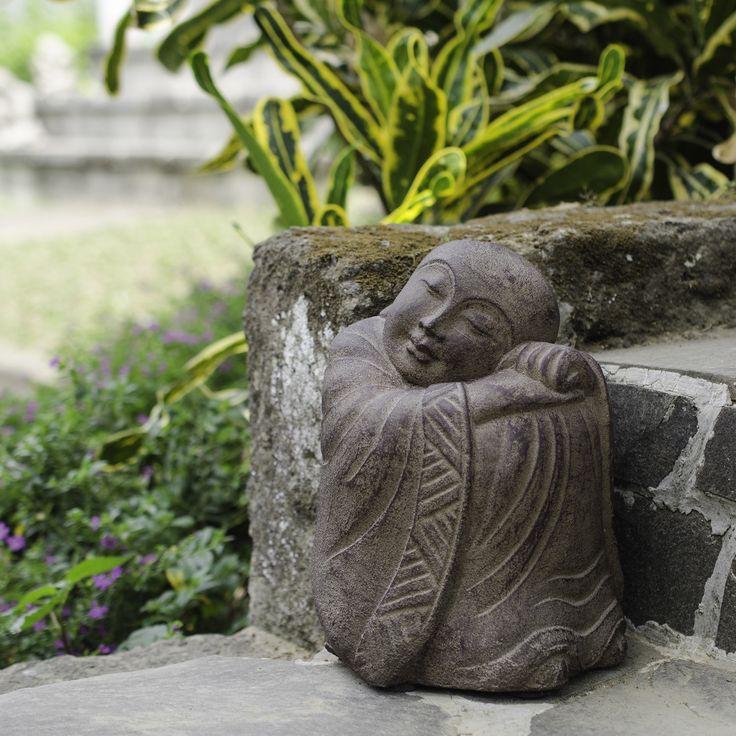 Asian garden sculpture, babe oil fucked