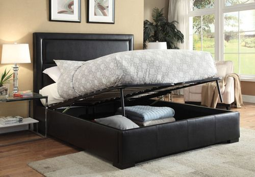 Acme Furniture Salem Queen Size Platform Bed with Under Bed Storage 25240Q