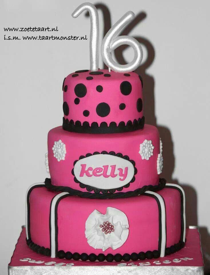 Sweet sixteen cake pink