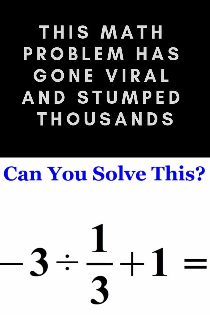 This Math Problem Has Gone Viral And Stumped Thousands Maths Puzzles Math Problems Math Riddles [ 1102 x 735 Pixel ]