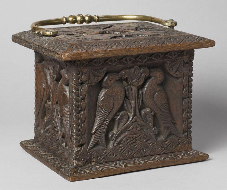Foot Warmer  Artist/maker unknown, Dutch  Geography: Made in Netherlands, Europe Date: 1790 Medium: Oak; brass handle