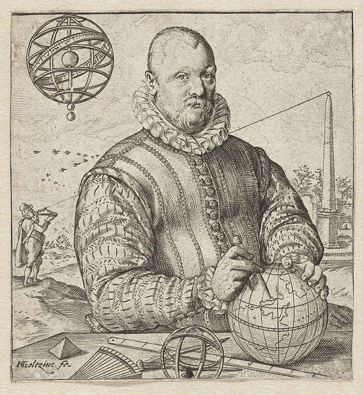 Portret van Nicolaus Petri van Deventer, Hendrick Goltzius, 1583