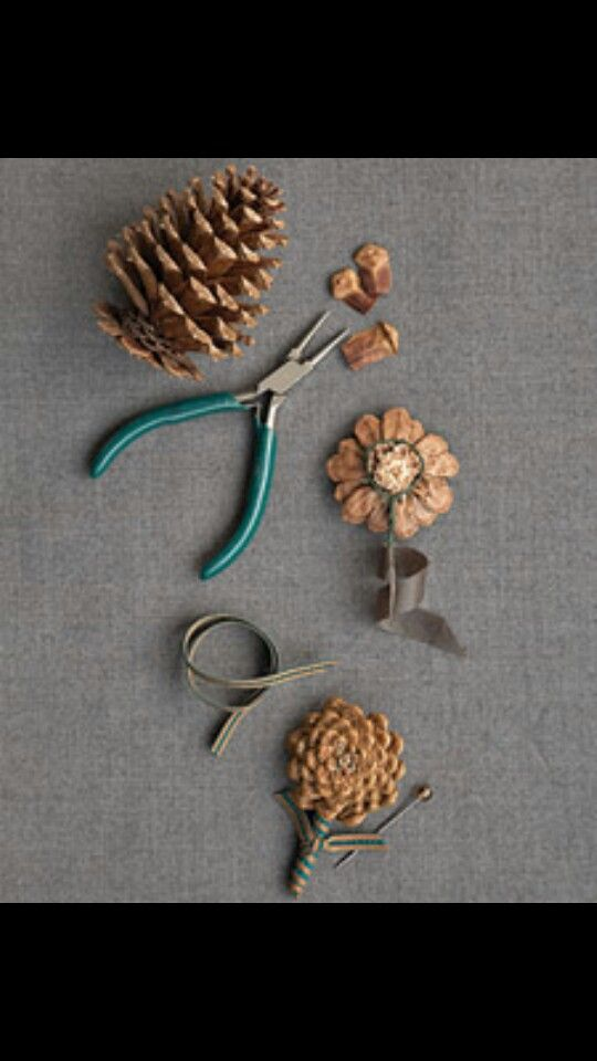15 best pinecone crafts images on pinterest pine cone for Holiday craft ideas with pine cones
