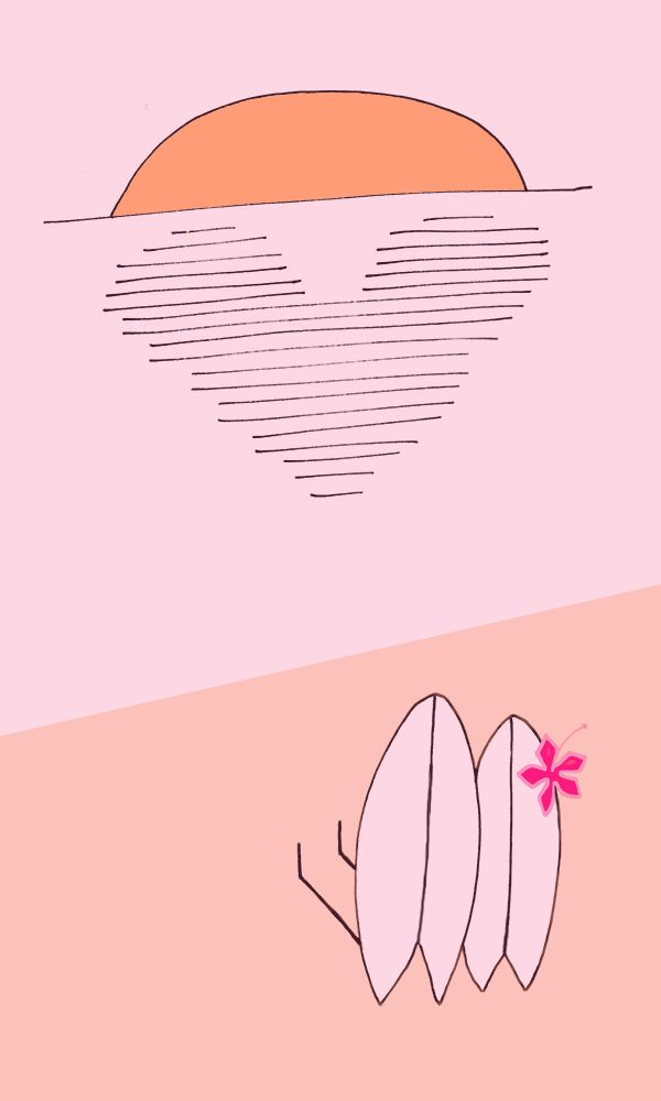 Sea Legs Cartoon: Sea Sick! Follow along on the adventures of Fin, just a fishtail surfboard enjoying life with his mates.   surf cartoon illustration humor surf art surfboards http://sealegssmile.com cartoonist/illustrator: Claire Williamson