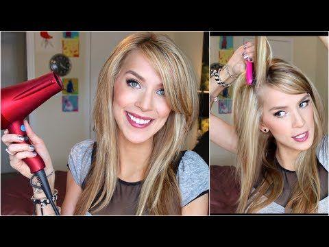 ▶ Straight Hair with Volume Tutorial (New Big Texas Hair!) - YouTube
