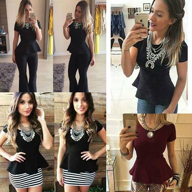 Super novidade: chegaram na loja diversos modelos divos de blusinha Peplum 👏👏👏. Versáteis, elas ficam lindas com calça e saia. Na Lott você encontra desde os modelos sociais aos mais ousados a partir de 74,90. Aproveite ☺ [imagem ilustrativa]  Snapchat 👻 LOJASLOTT Disponível na loja física ou pelo whatsaap (18) 99610-3513. Acesse nosso site www.lottstore.com.br  #outonoinverno2016 #roupadeinverno #outonoinverno #novidade #bandagem #peplum #peplumbandagem #calcafeminina #tendencia #moda…