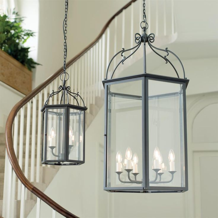 A hand forged, #oversized #glass #lantern, with grand Victorian styling inspired by the architecture of Charlecote Park in Oxfordshire