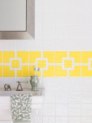 Painting ceramic tile... http://www.bathroom-paint.net/painting-bathroom-tiles.php