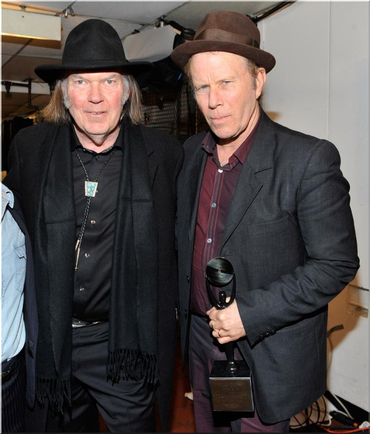 Neil Young and Tom Waits attends the 26th annual Rock and Roll Hall of Fame Induction Ceremony at The Waldorf=Astoria on March 14, 2011 in New York City.