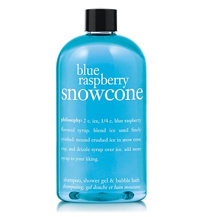 Blue Raspberry Snowcone Shampoo, Shower Gel, and Bubble Bath at Philosophy.