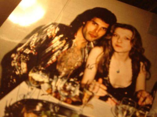 Freddie Mercury and Mary Austin. 1970s. (rare)