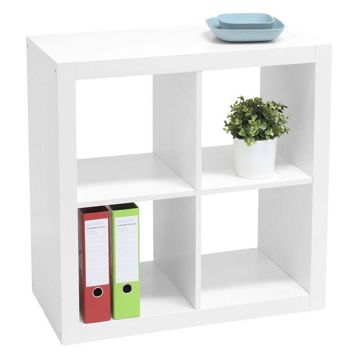Malmo 4 Cube Bookcase White: great to store all my school textbooks