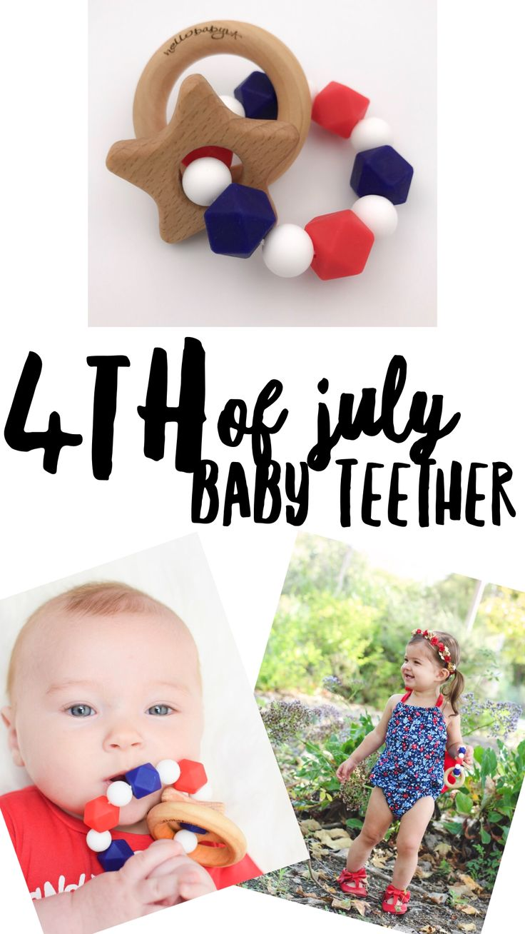 Perfect teether for 4th of July! Great photo prop for holiday photos! Hellobabyla.com !