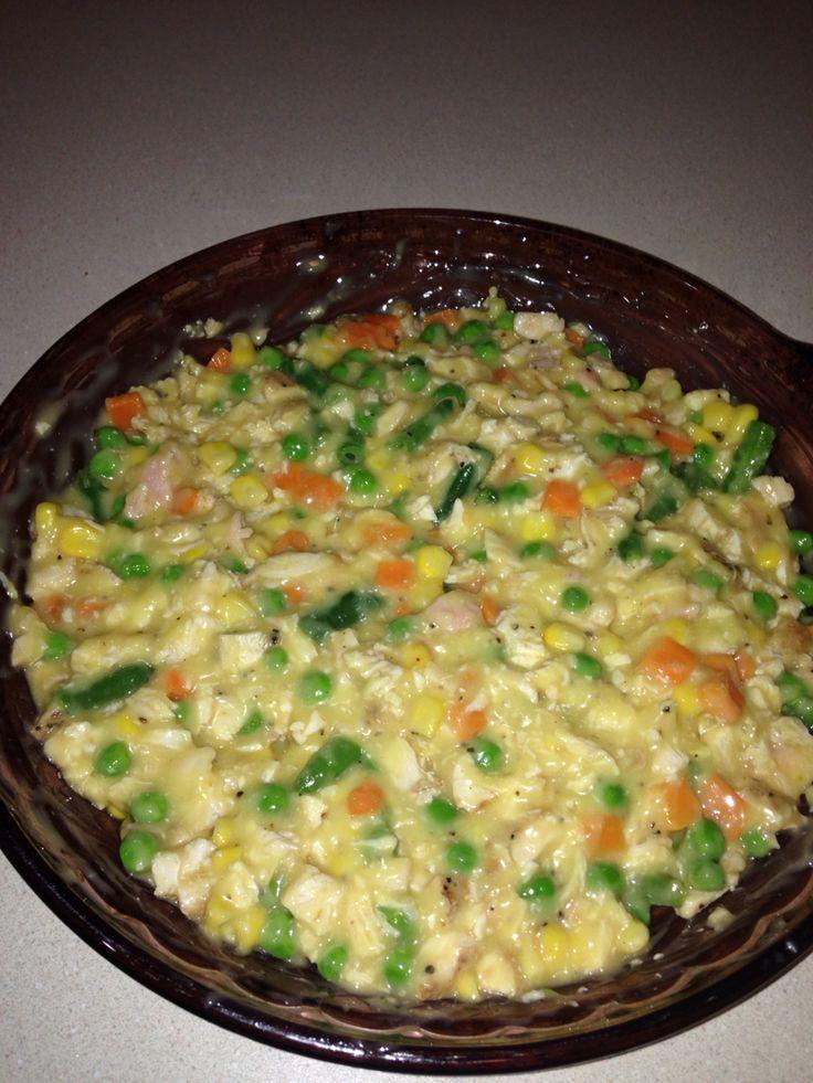 Chicken pot pie step one