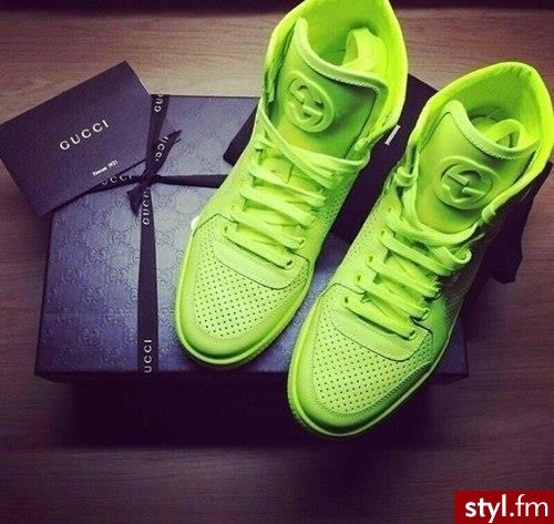 neon Gucci sneakers | Sneaky! Sneaky☻ | Pinterest | Gucci ...