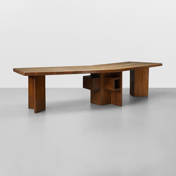 Le Corbusier; Wooden Minister's Desk from the High Court, Chandigarh, c1956.