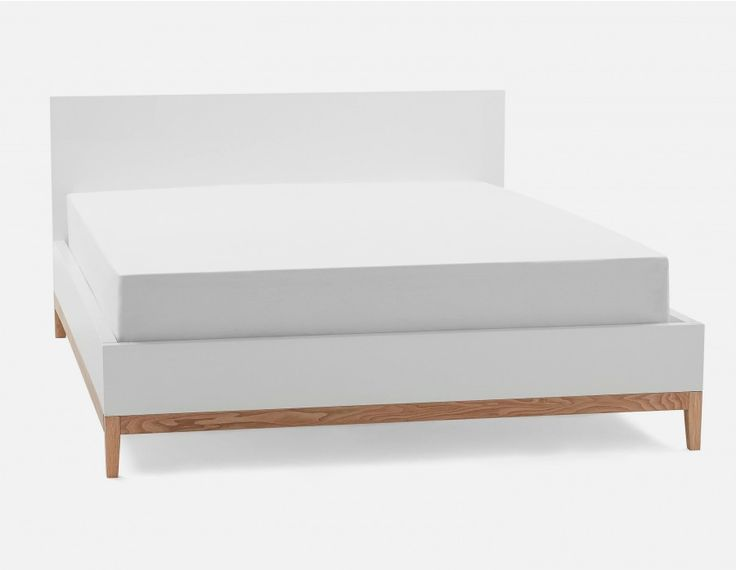 OLIVER - Queen size bed - White
