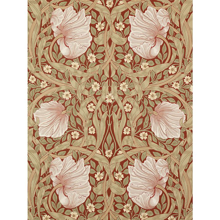 Buy Morris & Co Pimpernel, Brick / Olive, 210386 Online at johnlewis.com