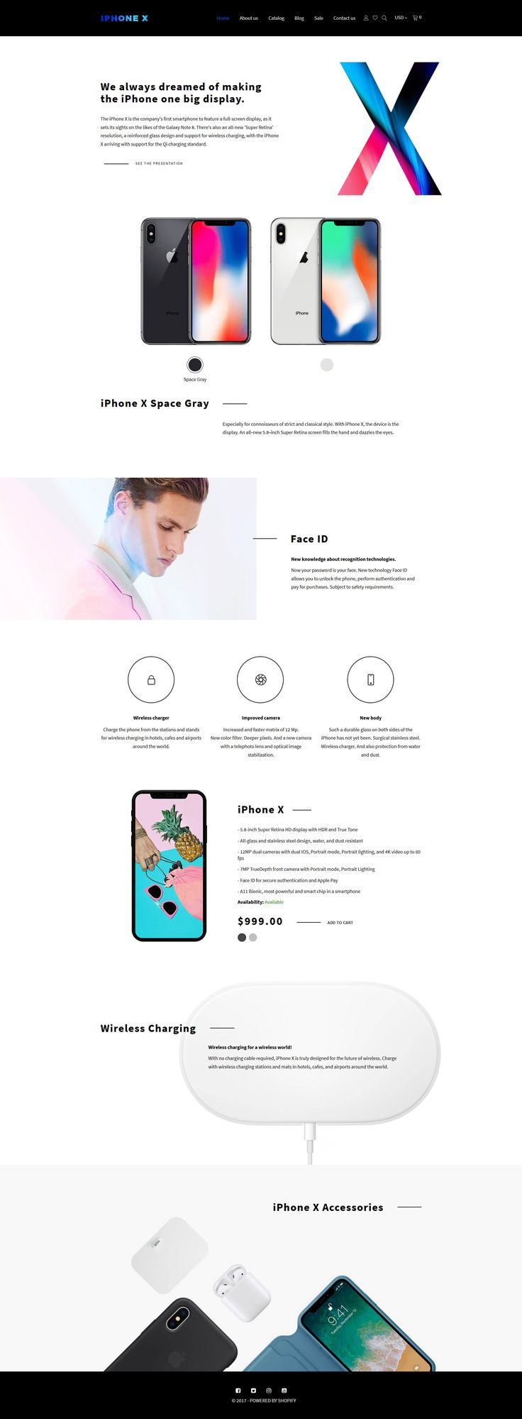 iPhone X - Apple Store Shopify Theme