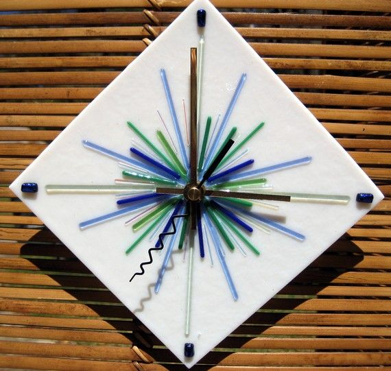 81 best clocks images on Pinterest Fused glass Stained glass