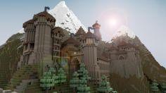 Cool Minecraft Castle Blueprints   beautiful realistic minecraft castle tephra castle and the town of