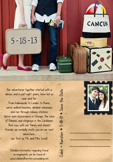 Our destination wedding Save the Date :)