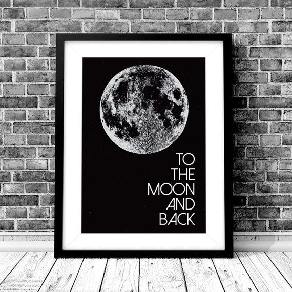 To The Moon And Back Wall Art Decor Print by StaceyLeeLoves