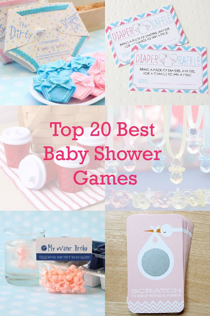On The Blog: Get the baby shower planning started with a round up of our top 20 favorite baby shower games!