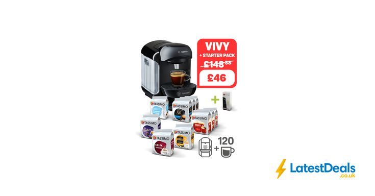 TASSIMO VIVY Black + Starter Pack, £46