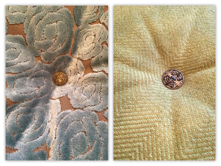 button centres on designer cushions