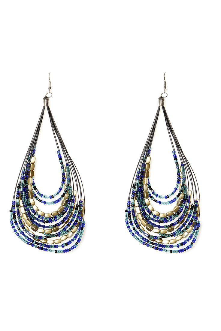 Curve Multi - Color Earrings